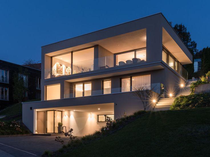 #Hanghaus#Einfamilienhaus #Röthis# modern #Massivbau #Moderne Architektur # Haus L form modern#Pool# Galerie