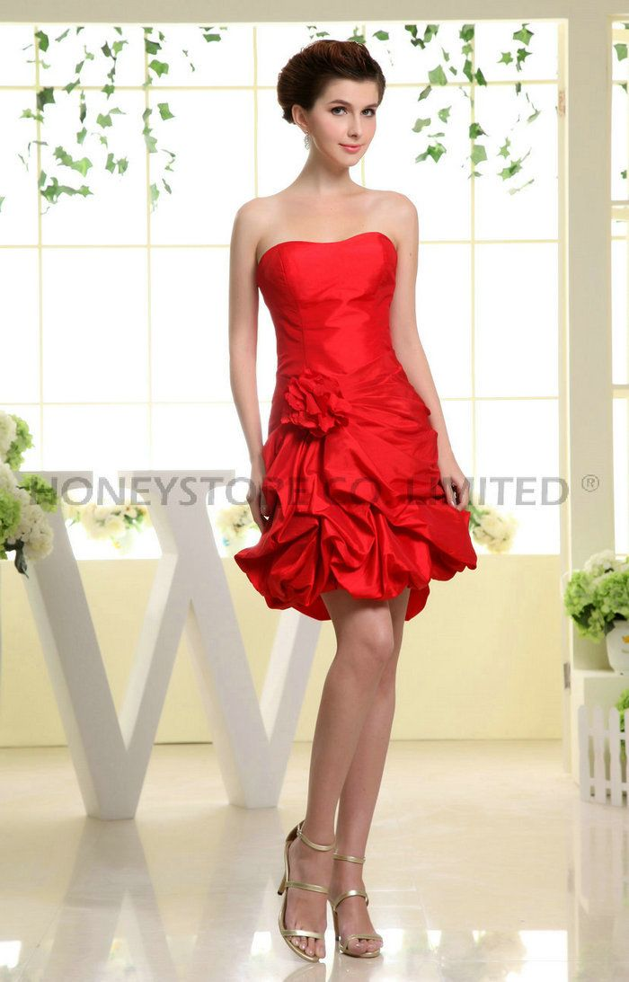 Aliexpress.com : Buy A line Sweetheart Above Knee Taffeta Red with Pleats Cocktail Dresses from Reliable pleated cocktail dress suppliers on HONEYSTORE CO., LIMITED $167.98