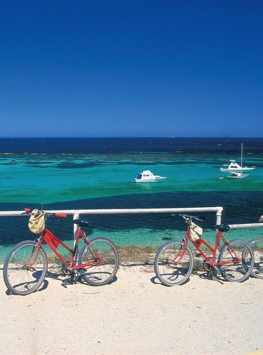 "A short ferry ride along the Swan River from Perth and you arrive in paradise: Rottnest Island, or ""Rotto"" to the locals"