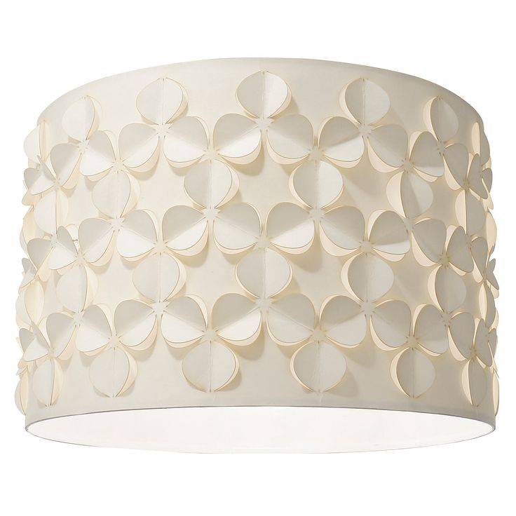 Buy John Lewis Clara Cutwork Drum Shade, White from our Ceiling Lighting range at John Lewis. Free Delivery on orders over £50.