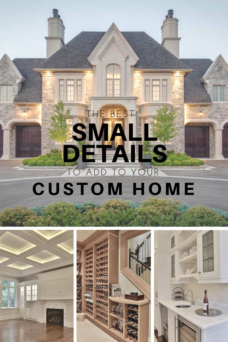 Ceilings, technology, storage, and other details to add to your home to make it more unique and functional #customhome