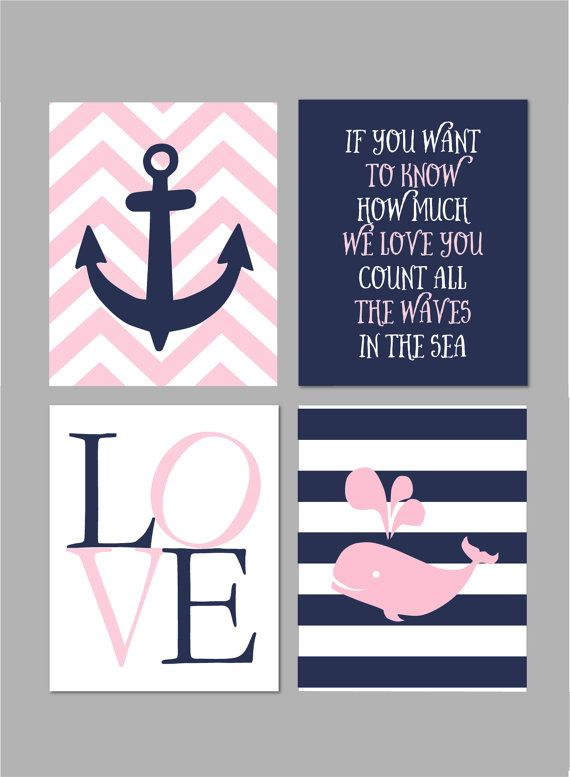 """50% Off Baby Girl Nautical Nursery Pink and Navy Nursery Nautical Wall Art Nursery Art If You Want to Know INSTANT DOWNLOAD 8""""x10"""""""
