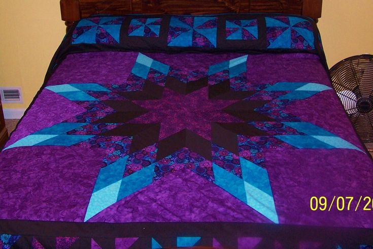 free lone star quilt pattern template - Google Search