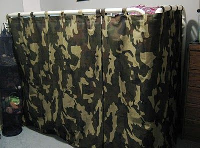 Bunk bed tent made from velcro curtains fabulous idea for Boys curtain material