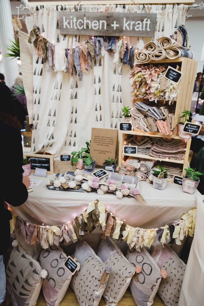 photo by Kate Stamas(Renegade Craft Fair) ... Block printed background fabric…