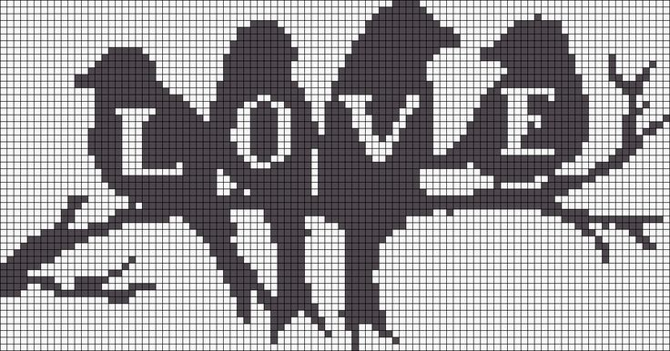 Love birds Alpha Pattern #17961 Preview added by CagedBird