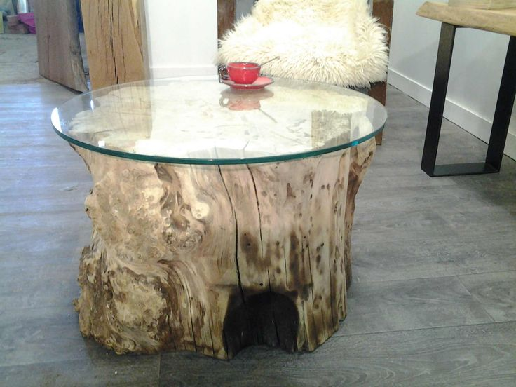 Table basse peuplier verre tables basses pinterest tables - Table basse bois brut a peindre ...