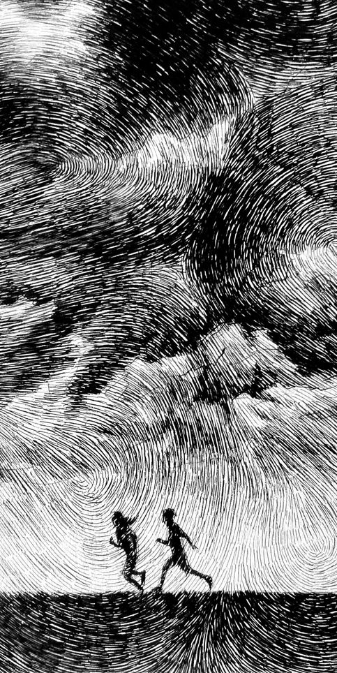 Fingerprint - Averse - India ink drawing - Nicolas Jolly-This piece demonstrates a true use of hatching.  I have the most trouble with hatching and this picture seems to help me calibrate my own hatching abilities.