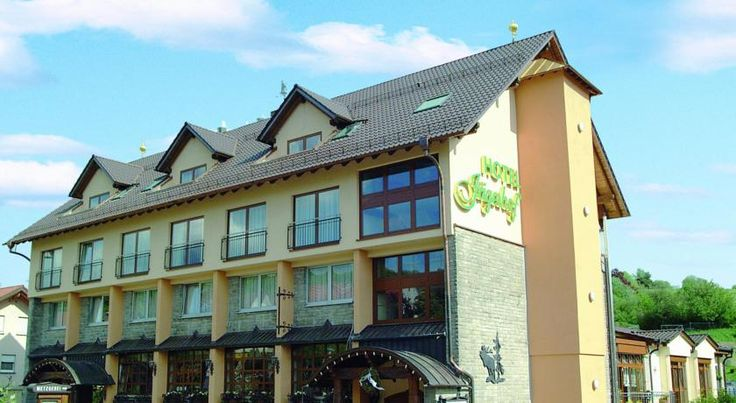 Jägerhof Weibersbrunn Located in Weibersbrunn, this traditional hotel is surrounded by the forests of the Bavarian Spessart Nature Park. It offers wireless internet, regional cuisine and an outdoor terrace.