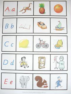 Hej igen! Här kommer ett nytt material som jag har gjort. Materialet består av hela alfabetet och man ska para ihop bilderna med bokst...