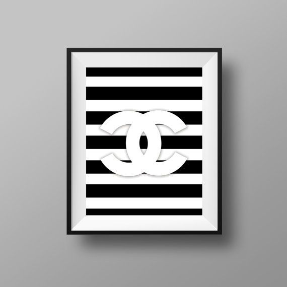 Chanel Print > Chanel Art > Chanel Decor > Chanel Sign > 11x14 - Instant Digital Download