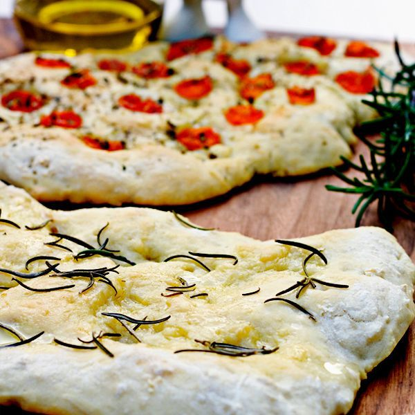 Focaccia with Rosemary & Cherry Tomatoes | Recipe ...