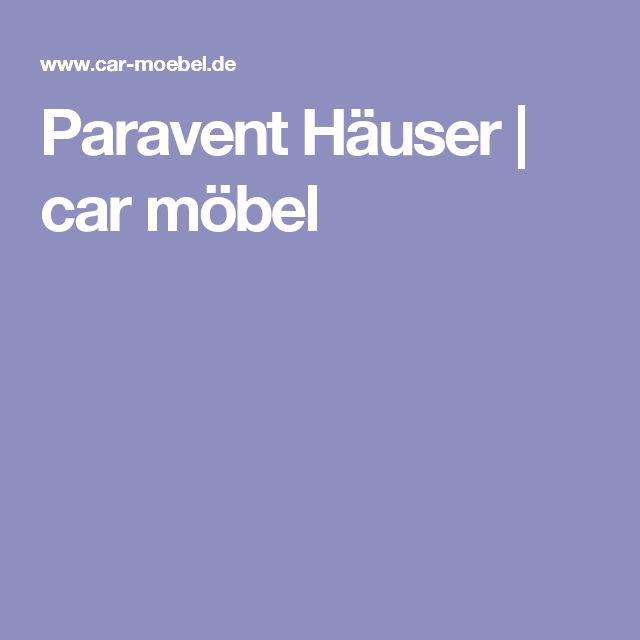 Simple Paravent H user car m bel