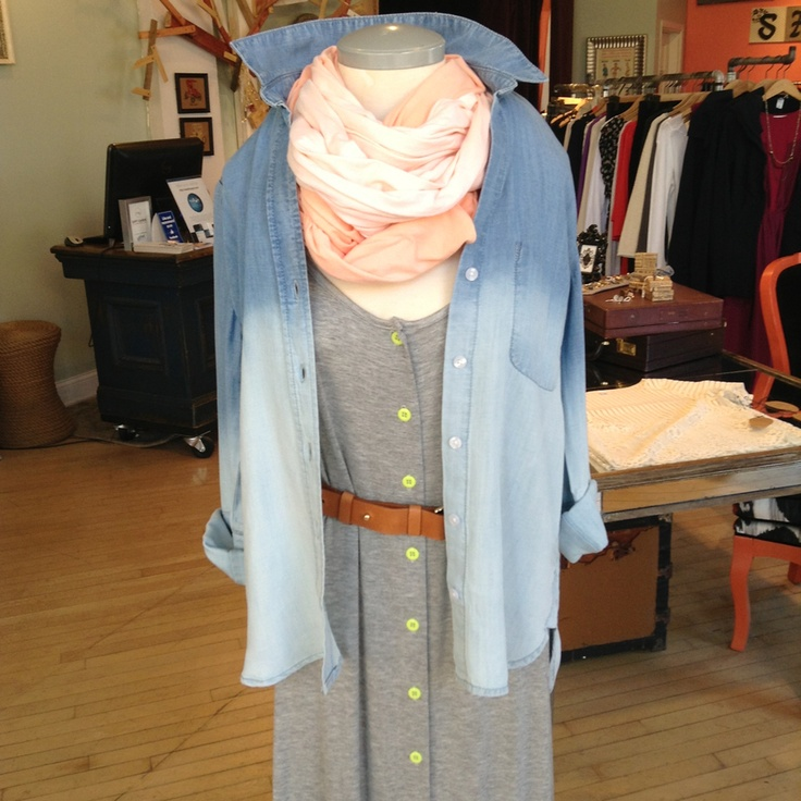 Dip dye chambray. Closet staple this spring! $158.00