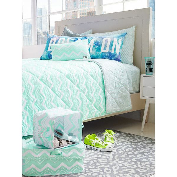 pink your pad with fun bedding and more dorm accessories in cheeky graphics and cool colors