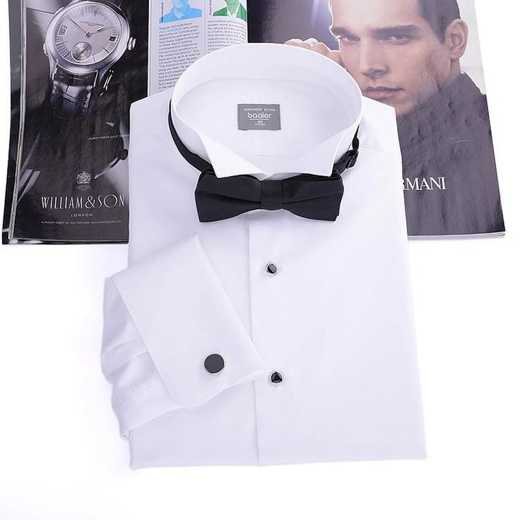 Men's Tuxedo Shirt,French cufflinks banquet,small turn-down collar, high quality 140'' cotton yarn, 100% gurantee