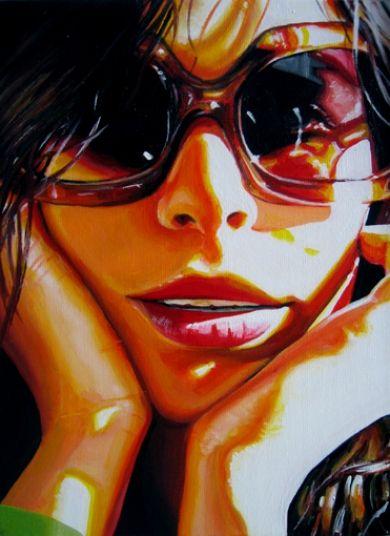 """think"" acrylic on canvas   Artwork by Steve"