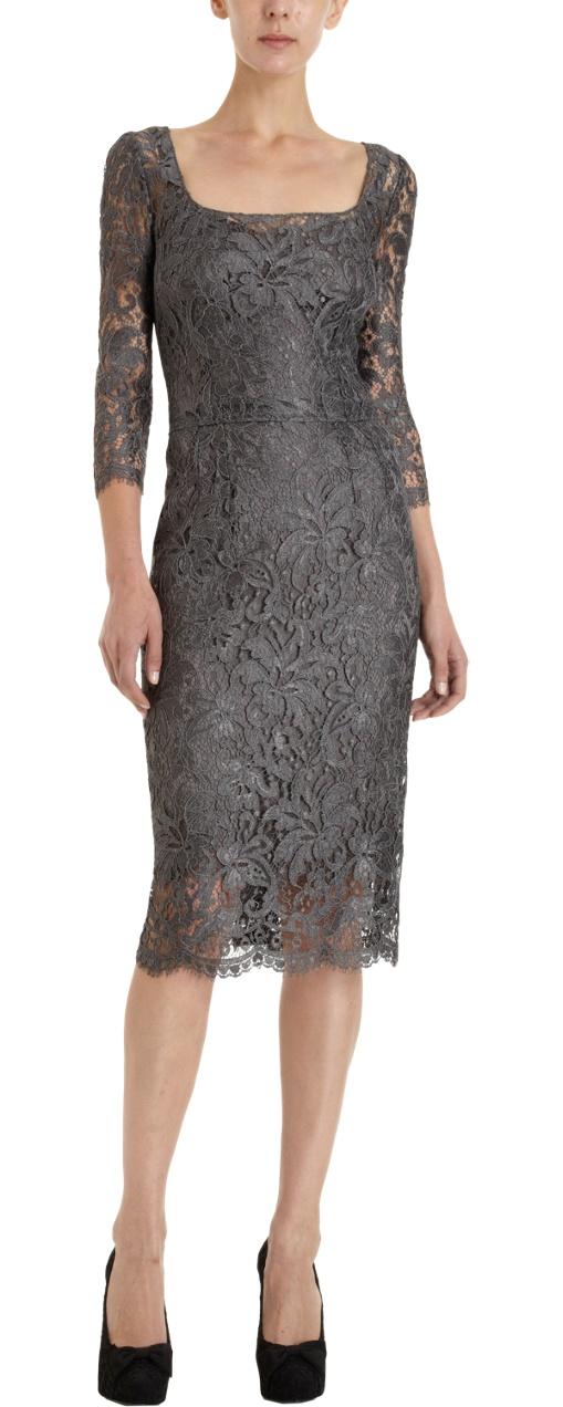 Dolce & Gabbana  ...fabulous...timeless    Lace Overlay Sheath Dress