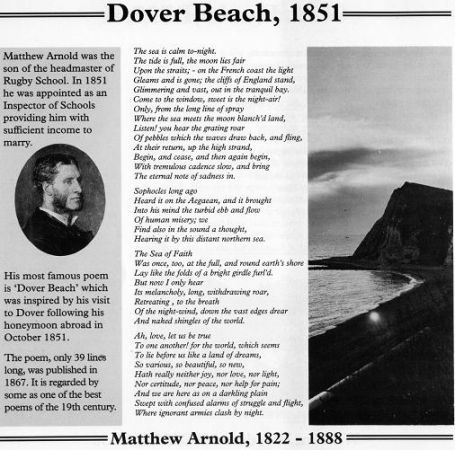 best a one of the most significant of the many literary  matthew arnold dover beach