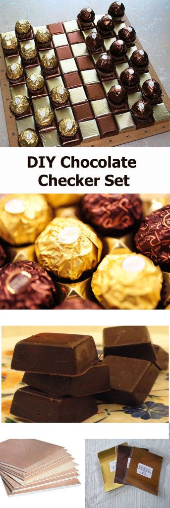 DIY chocolate checkers set