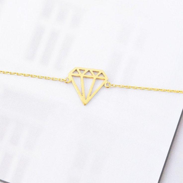 Diamant Origami Gold Bracelet - Majolie