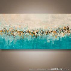Resumen arte de la pared, cuchillo de paleta de pintura, pintura moderna, gran pintura, acrílico, arte de la pared, arte de la lona, decoración del hogar paisaje, Catalin