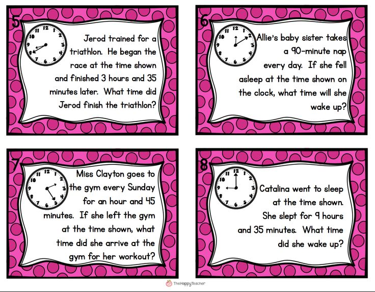 elapsed time task cards get students up and moving with these elapsed time word problems top. Black Bedroom Furniture Sets. Home Design Ideas