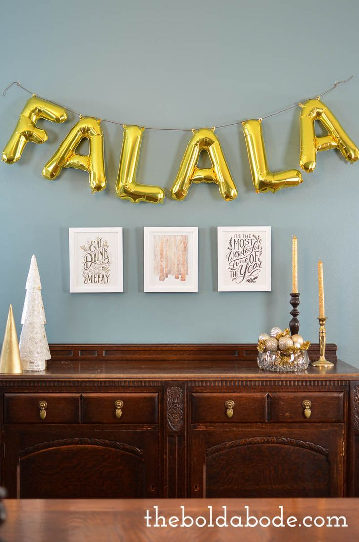 Add a little whimsey to your Holidays with this fun FALALA Banner. It's so easy to put together and makes the entire room sparkle!