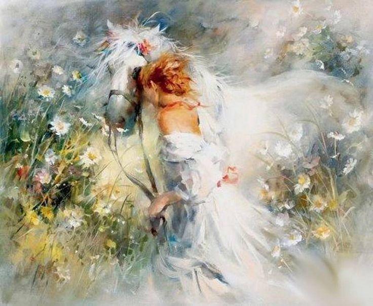 уильямс Хентрикс Девушка и лошадь - Схемы вышивки - elena_anele - Авторы - Портал «Вышивка крестом»