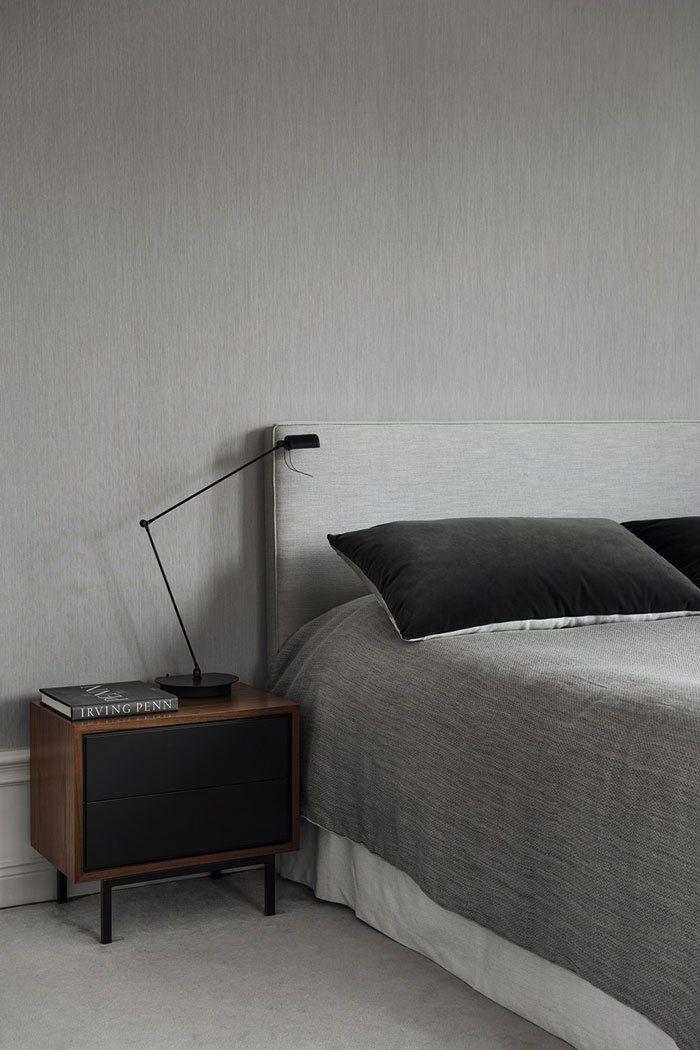 Gray Velvet and Linen | Louise Liljencrantz's home - via Coco Lapine Design blog