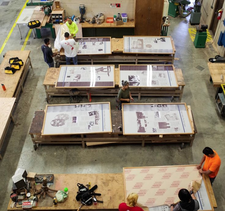 #HonCC carpentry class completed building eight wood frames for HPD. These frames will be displayed in the Honolulu Police Department Museum. #honcctrades #carpentrytrade #hpd #woodwork