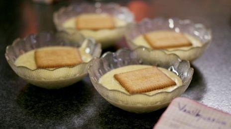 Eén - Dagelijkse kost - vanillepudding met petit-beurrekoekjes | Eén