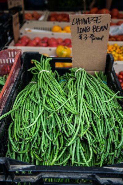 Long Beans from the Santa Monica Farmer's Market | Elizabeth Winslow for Camille Styles