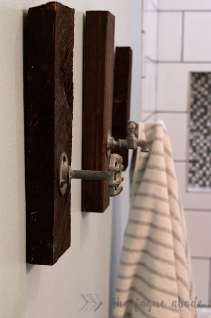 The Fogue Abode: DIY Bathroom Towel Holders {Industrial Style}