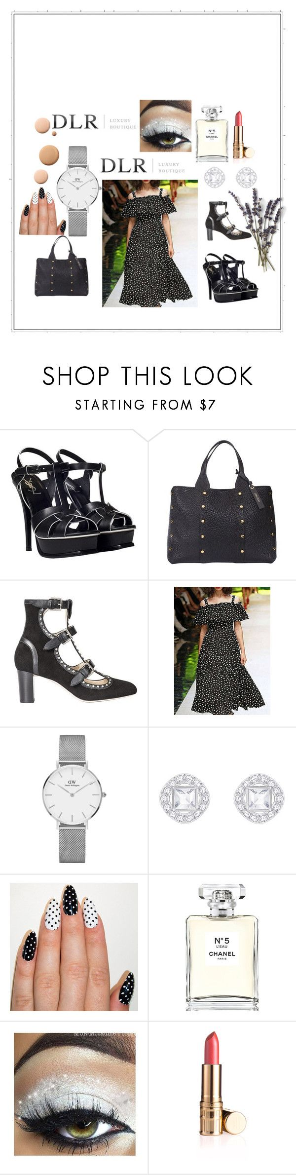 """""""SALES DLRBOUTIQUE"""" by adelisa-388 ❤ liked on Polyvore featuring Yves Saint Laurent, Jimmy Choo, Daniel Wellington, Chanel and CC"""