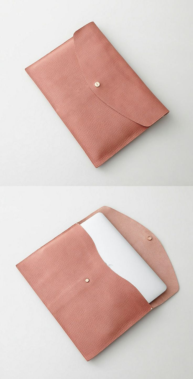 Leather laptop sleeve... More