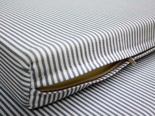 Check Out The Deal On Gray And White Striped Cover At Foam Factory