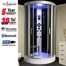 Insignia - Steam Shower Cabin with Black Backwalls - GT6000B