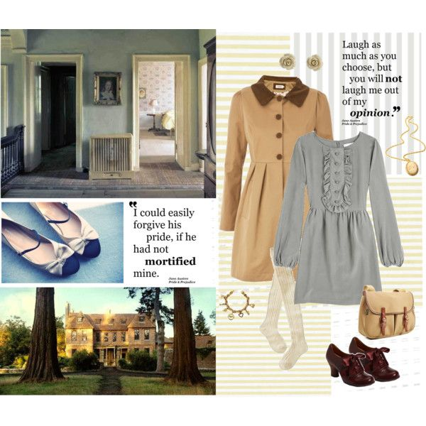 Jane Austen inspired, created by pursuit-of-loveliness on Polyvore