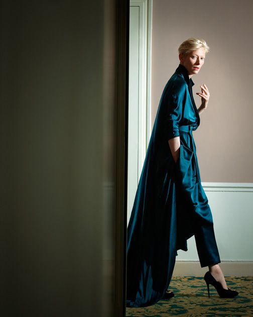 She photographs beautifully!                 TILDA SWINTON by Jeff Burton