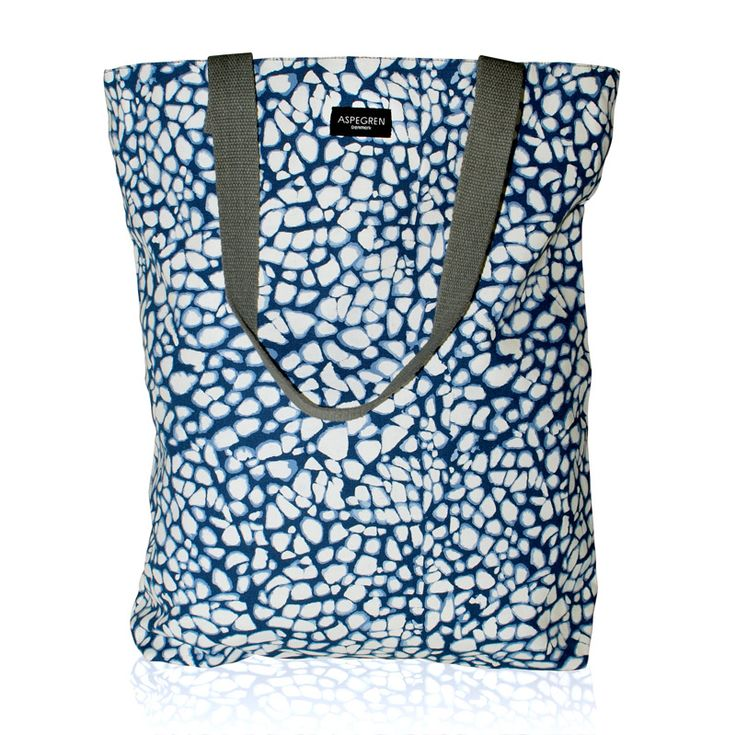 Aspegren-bag-crackle-navy Canvas bag www.aspegren.dk