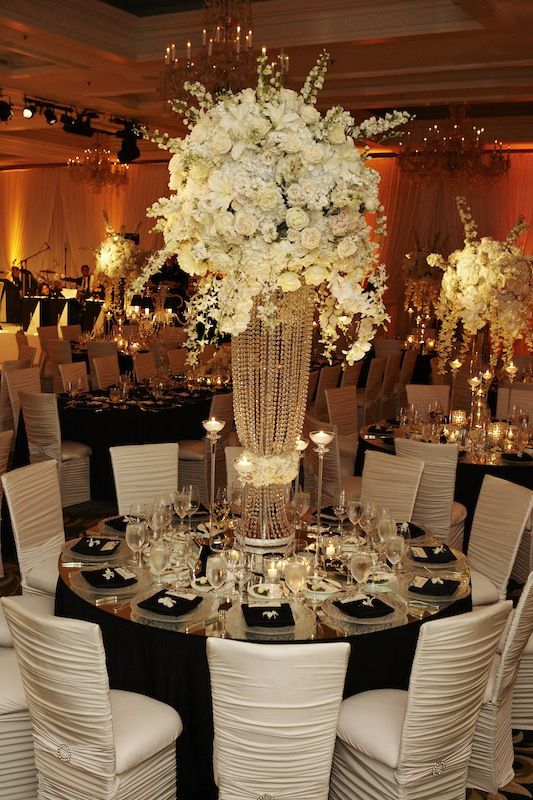 Twinkle Twinkle white reception wedding flowers,  wedding decor, wedding flower centerpiece, wedding flower arrangement, add pic source on comment and we will update it. www.myfloweraffair.com can create this beautiful wedding flower look.