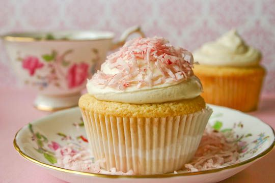 Bakergirl: One-Bowl Vanilla Cupcakes with Vanilla Buttercream Frosting.