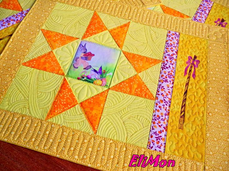 quilt Placemats Easter,yellow,
