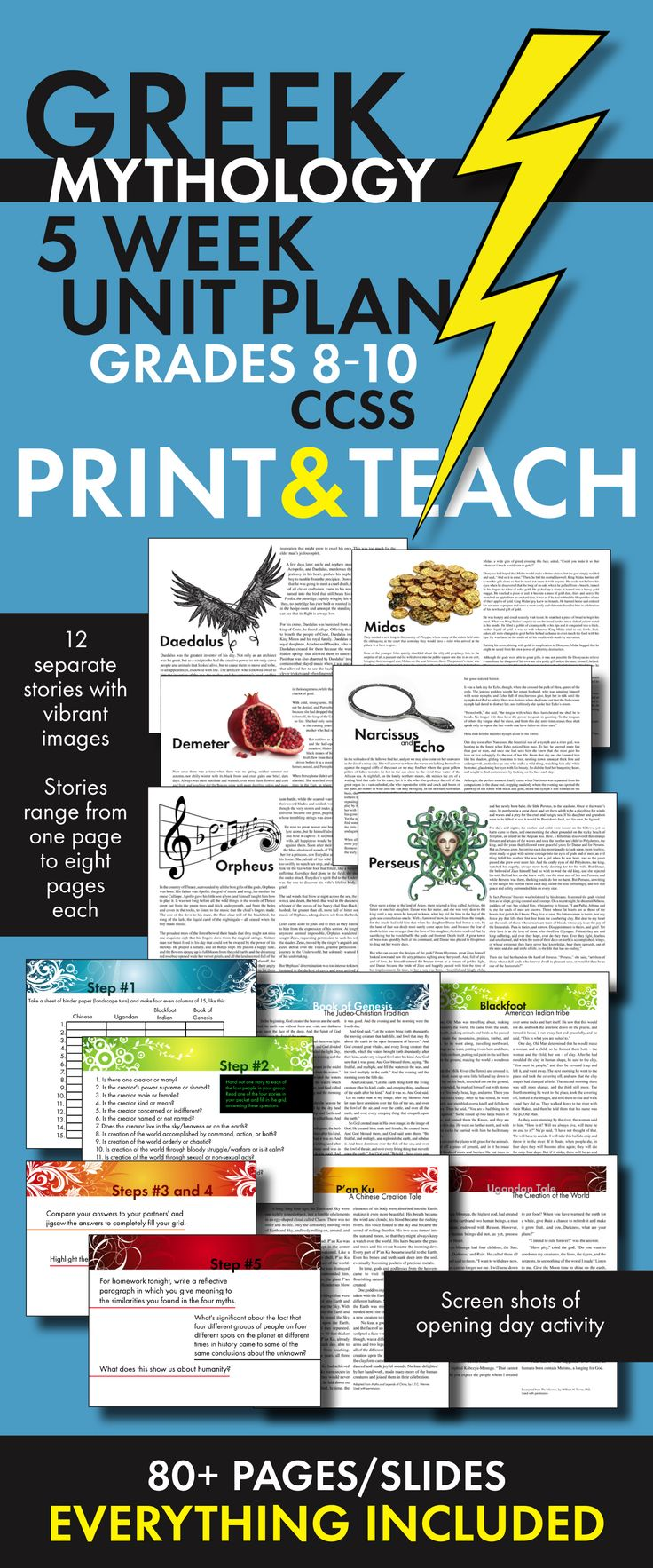 306 best homeschooling highschool images on pinterest teaching everything you need to teach greek mythology to teens just print and go fandeluxe Choice Image