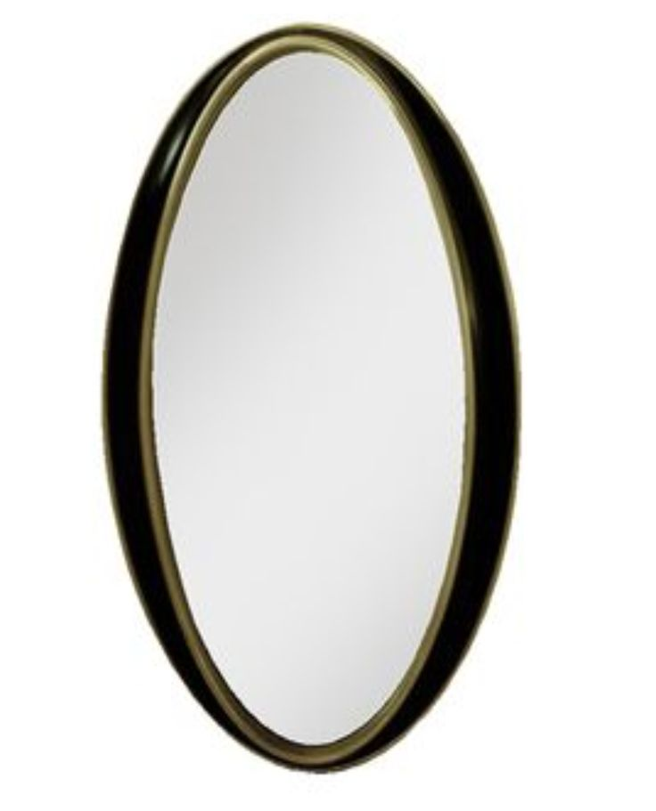 Black & Gold Oval Wall Mirror – Allissias Attic & Vintage French Style