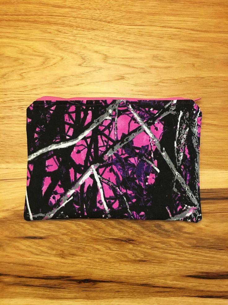 Muddy Girl Camo zippered bag, cute makeup bag https://www.etsy.com/listing/519523593/muddy-girl-camo-zippered-pouch-zippered