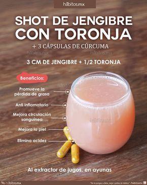Pruebe los beneficios de un #shot de jengibre con #toronja.