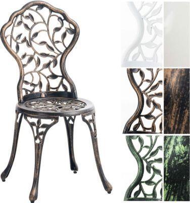 Gartenstuhl GOYAL Aus Aluminium Guss, Nostalgisches Design,  Witterungsbeständiger Bistrostuhl, Rostfrei Durch Pulverbeschichtung