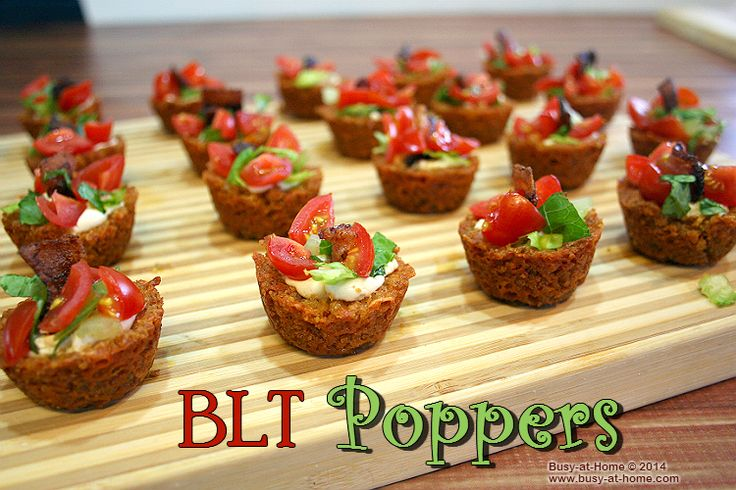 BLT Poppers Recipe - a delicious summertime classic in one delectable bite! Get the recipe @Kimberly Simpson Foods ow.ly/xyfep